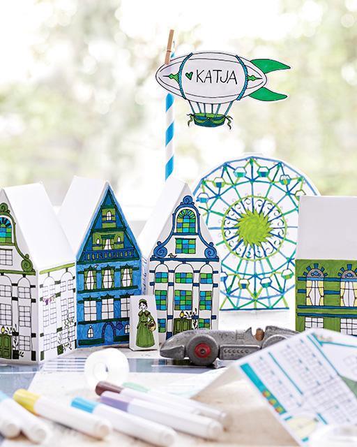 Kid's Table Paper Crafts + Free Printables   Lova Blavarg for Sweet Paul
