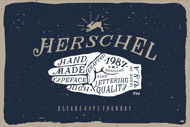 Herschel Font by Decade Type Foundry