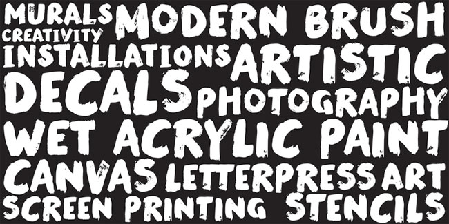Modern Brush Font by Street Type