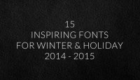 15 Inspiring Fonts for Winter & Holiday 2014 - 2015 on papercrave.com