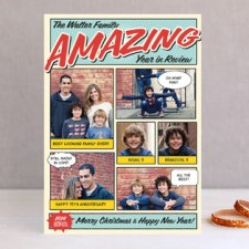 Amazing Comic Book Holiday Photo Cards