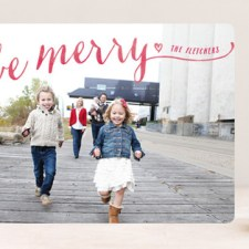 Be Merry Script Holiday Photo Cards