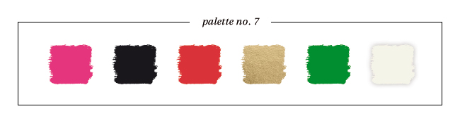 Winter & Holiday 2014 -2015 Inspired Color : Palette No. 7