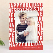 Hip Type Holiday Photo Cards
