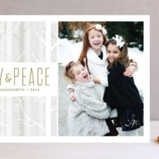 Snowy Woods Holiday Photo Cards
