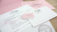 Recipe Card-Inspired Baby Shower Invitations | Little Korboose