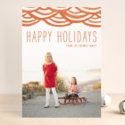 Watercolor Bunting Holiday Photo Cards