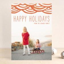Watercolor Bunting Holiday Photo Cards