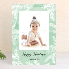 Watercolor Pines Holiday Photo Cards