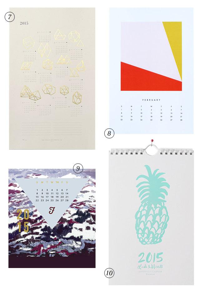 2015 Calendars, Week Two