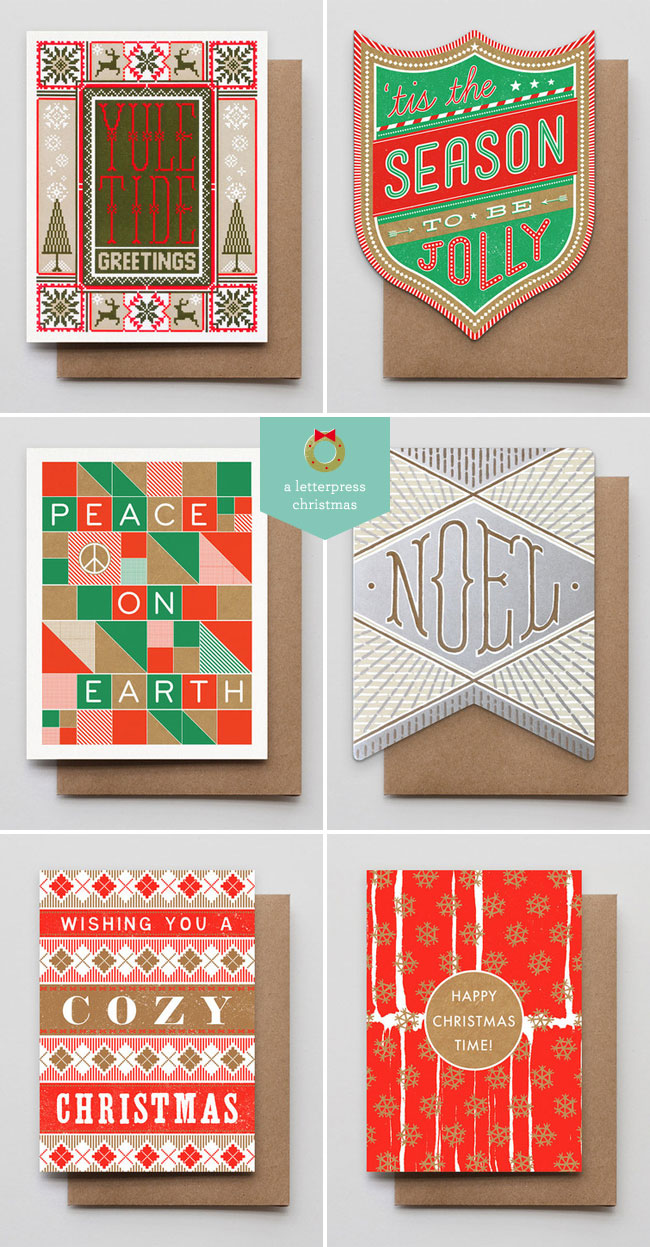 Hammerpress Letterpress Holiday Cards