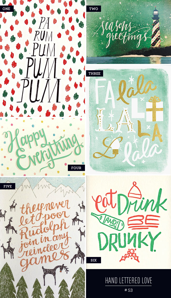 Even More Hand Lettered Holiday Card Love