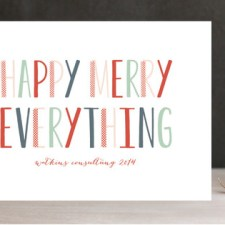 Happy Merry Modern Business Holiday Cards