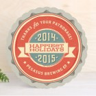 Vintage Bottle Cap Business Holiday Cards
