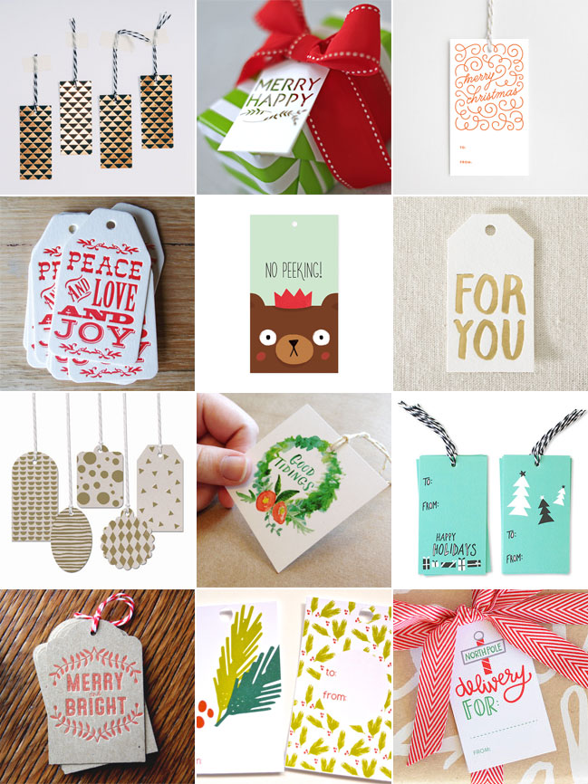 A Collection of Holiday Gift Tags