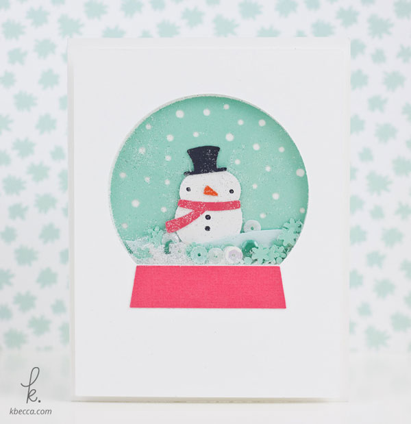 Snowman Snow Globe Shaker Card Cut Files | K.becca