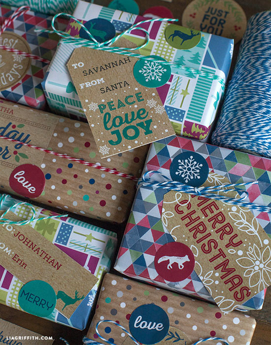 Free Printable Rustic Kraft Holiday Tags by Lia Griffith for Worldlabel