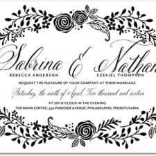 Floral Letterpress Wedding Invitations by Magnolia Press