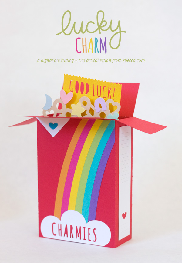 Charmies Cereal Box Card Kit Die Cuts | k.becca