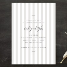 Modern Stripe Wedding Invitations by Paper Krush