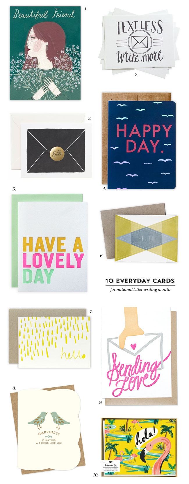 10 Everyday Cards for National Letter Writing Month