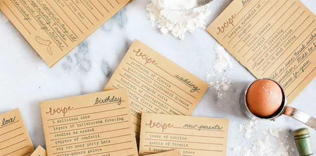 Bread & Butter Letterpress Greeting Cards by Belle & Union