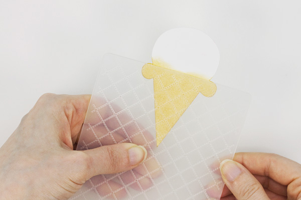 Coloring with Ink: Ice Cream Cone Gift Tags, Step 3