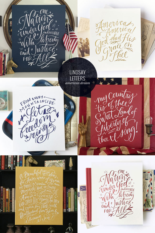 Hand Lettered American Dream Collection by Lindsay Letters