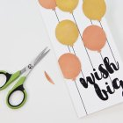 DIY Metallic Balloons Birthday Card, Step 6