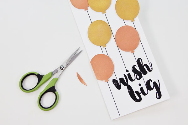 DIY Metallic Balloons Birthday Card, Step 6