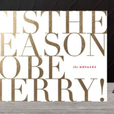 Typography Business Holiday Cards by Carrie O'Neal
