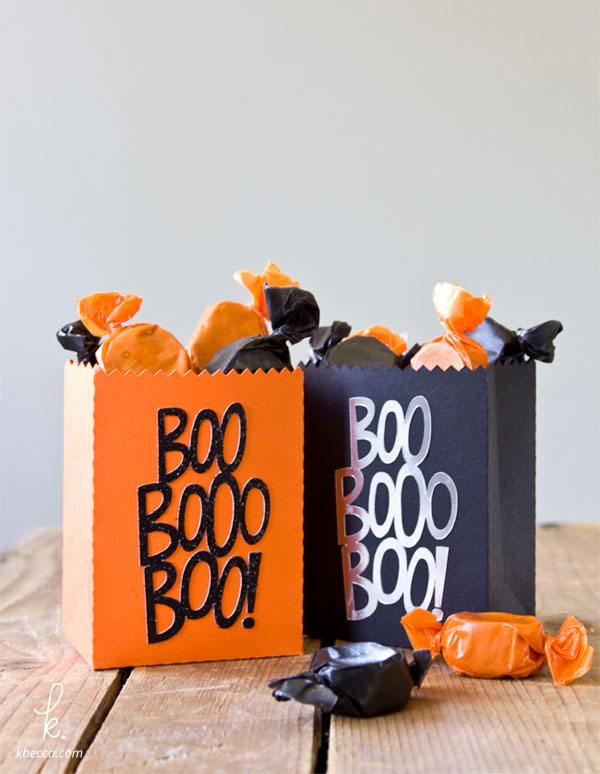 DIY Die Cut Halloween Treat Bags from Kbecca.com