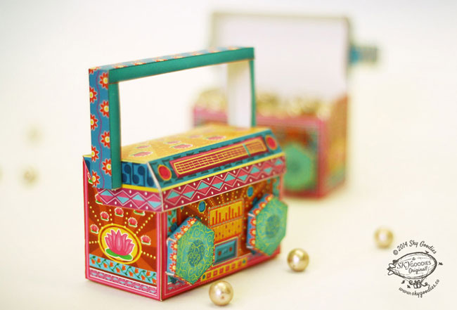 Sky Goodies DIY Mini Paper Boombox