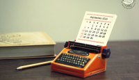 Sky Goodies Paper Typewriter Calendar