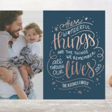 Hand Lettered Foil Holiday Photo Cards by Laura Hankins