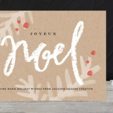 Modern Noel Business Holiday Cards by Jennifer Wick