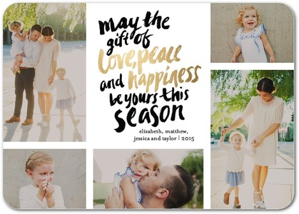 Photo Collage Holiday Photo Cards by Coloring Cricket