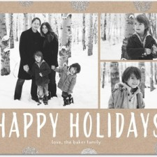 Glitter Dots Holiday Photo Cards by Magnolia Press