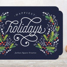 Festive Foliage Business Holiday Cards by Kristie Kern