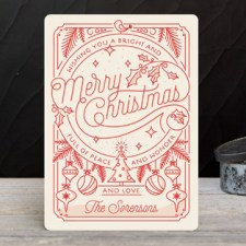 Merry Little Lines Business Holiday Cards by Geekink Design