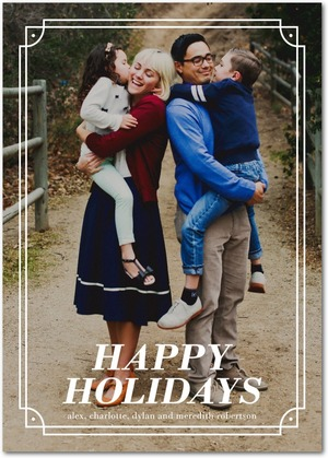 Vintage Frame Holiday Photo Cards by Magnolia Press