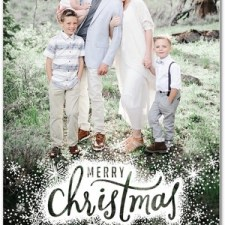 Snowy Christmas Holiday Photo Cards by Petite Alma