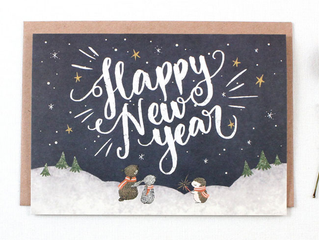Happy New Year Card by Whimsy Whimsical