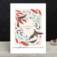 Winter Birds Business Holiday Cards by Lori Wemple