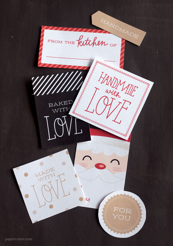 Free Printable Holiday Gift Tags by Paper Crave