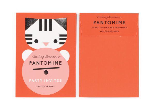 Pantomime Party Invitations by Darling Clementine