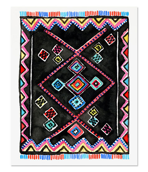 Kilim Rug 2 Art Print by Golden Fox Goods