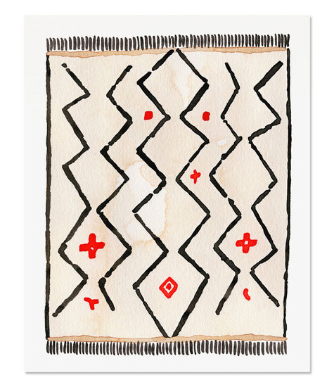 Kilim Rug 1 Art Print by Golden Fox Goods