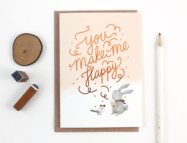Whimsy Whimsical You Make Me Happy Card
