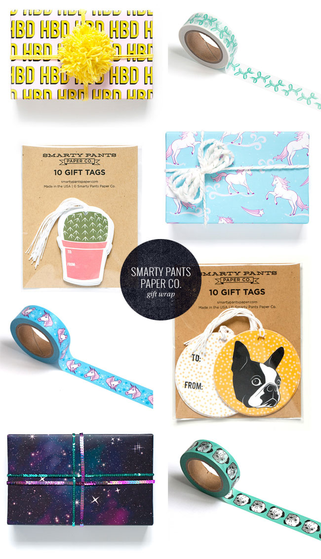 Gift Wrap, Gift Tags & Washi Tape from Smarty Pants Paper Co.